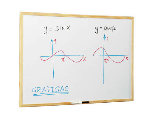 PIZARRA BLANCA FAIBO MAGNETICA MARCO MADERA 60X90 CM. (702-3)