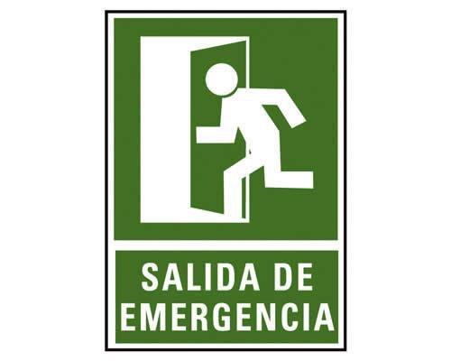"""Placa de señalización de ARCHIVO 2000 """"Salida de emergencia"""". 224 x 327 mm (6170-02VE)"""