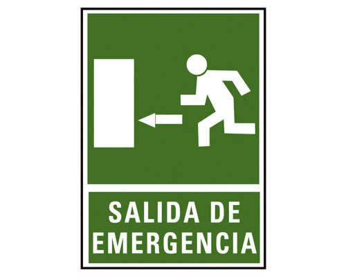 """Placa de señalización de ARCHIVO 2000 """"Salida de emergencia izda."""" 224 x 327 mm (01C6170-03VE)"""