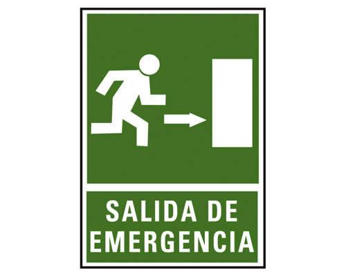 """Placa de señalización de ARCHIVO 2000 """"Salida de emergencia dcha."""" 224 x 327 mm (01C6170-04VE)"""