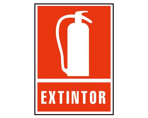 """Placa de señalización de ARCHIVO 2000 """"Extintor"""". 210 x 297 mm (01C6171-01RJ)"""