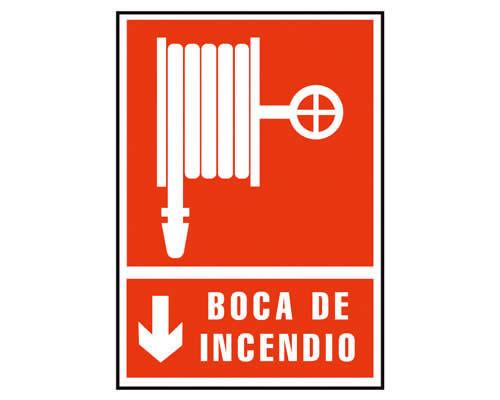 """Placa de señalización de ARCHIVO 2000 """"Boca de incendio"""". 210 x 297 mm (01C6171-03RJ)"""