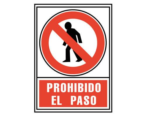 """Placa de señalización de ARCHIVO 2000 """"Prohibido el paso"""". 210 x 297 mm (01C6174-05 RJ)"""
