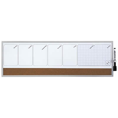 Organizador REXEL semanal magnético + tablero corcho 585 x 190 mm (1903780)