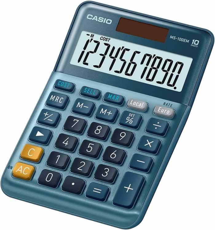 Calculadora Casio MS-100 EM 10 dígitos (ms-100 em)