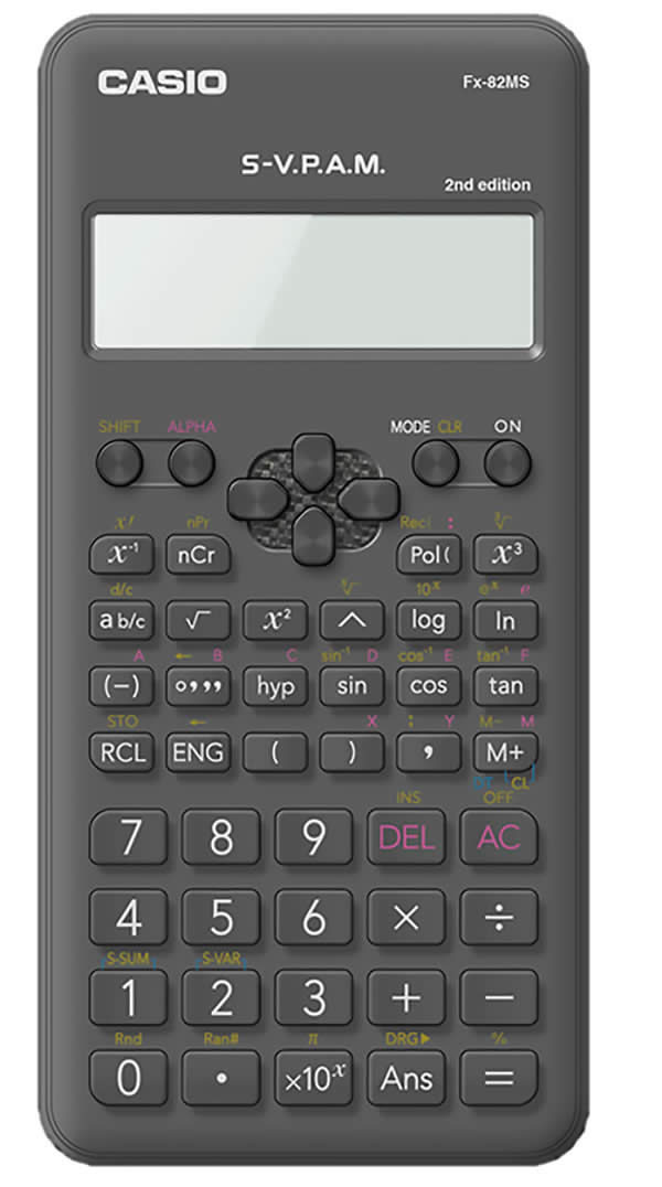 CALCULADORA CASIO FX-82MS II CIENTIFICA 240 FUNCIONES (FX-82MS II)