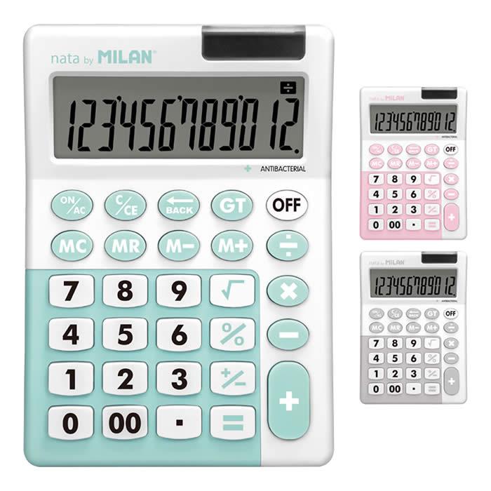 Calculadora Milan antibacteriano 12 dígitos colores (159706ibg)