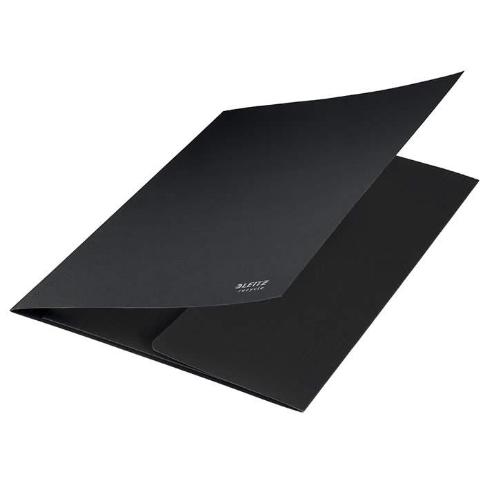 Carpeta Leitz 3 solapas de cartón 100% reciclable A4 negro (39060095)