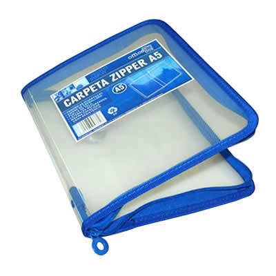 Carpeta OFFICE BOX portatodo zipper cierre cremallera. Tamaño A5 (57361)