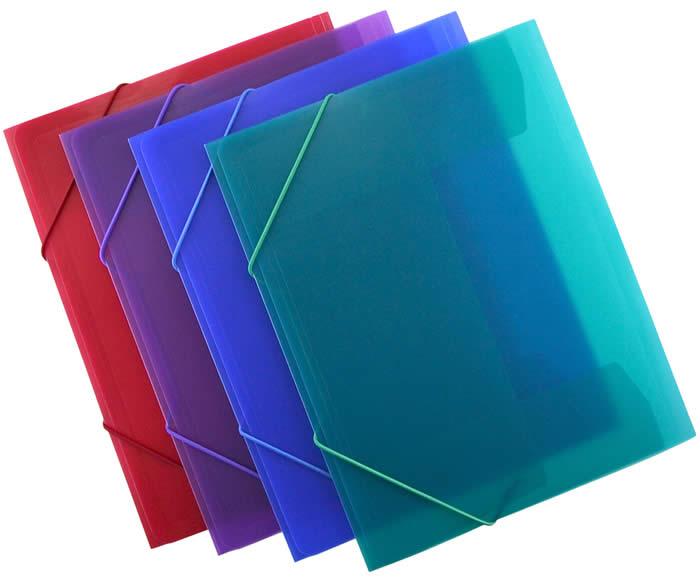 Carpeta OFFICE BOX con goma Supra. Tamaño A4. Colores surtidos (51615)