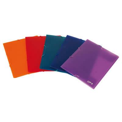 Carpeta OFFICE BOX con goma Supra. Tamaño A5. Colores surtidos (51015)