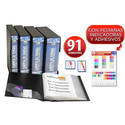 Carpeta OFFICE BOX 100 fundas A4 con caja color negro (10068)