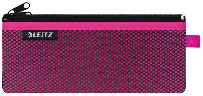 Bolsita de Nylon Wow LEITZ de 2 departamentos  de 21 x 8,5 cm