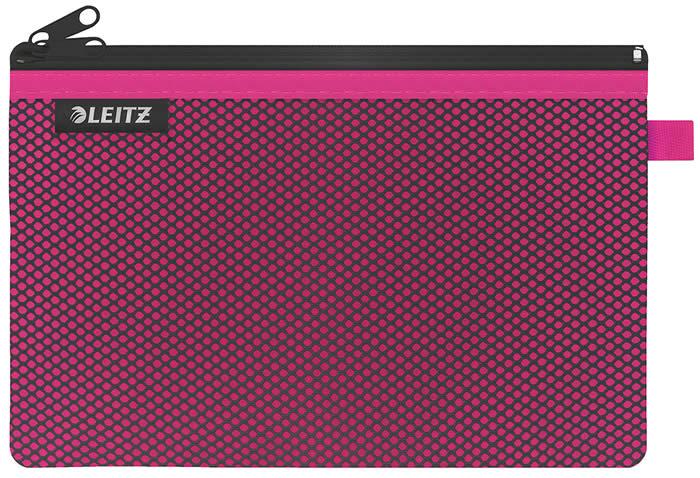 Bolsita de Nylon Wow LEITZ de 2 departamentos  de 23 x 15 cm