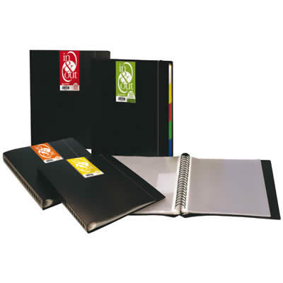 CARPETA GRAFOPLAS 50 FUNDAS C/INDICE EXTRAIBLES A4 NEGRO (039405010)