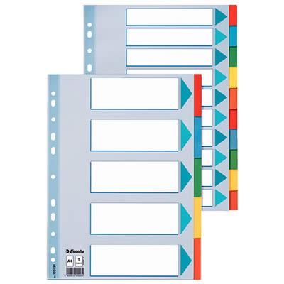 Separador Carton 6 Posiciones A4 (100192)