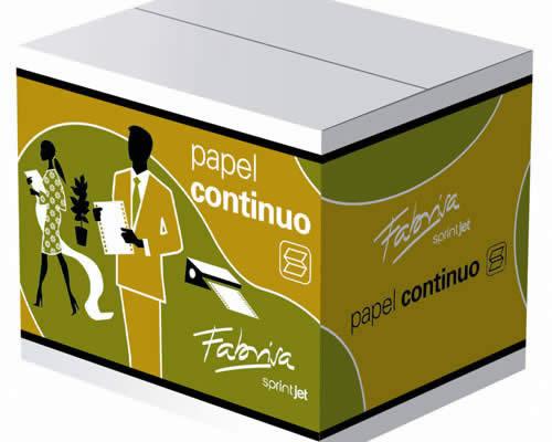 PAPEL CONTINUO FABRISA BLANCO 240X11 1 HOJA 2 TREPADOS CAJA 2500 (15377)