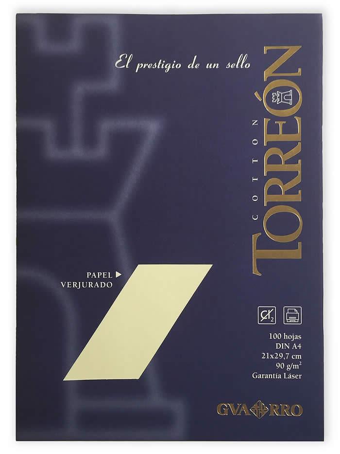 PAPEL VERJURADO TORREON A4 90 GRS. PQ. 100 HOJAS