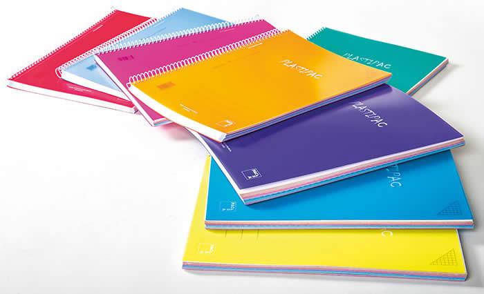 Cuaderno pacsa plastipac tapa p.p. A4 100 hojas 90 grs. Col. Surt. Cdla. 5x5 (16683)