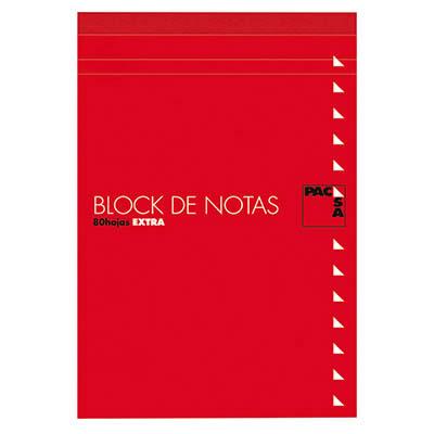 BLOC NOTAS PACSA CON TAPA Fº 80 HOJAS DE 60 GRS. CDLA. 4x4 (18900)