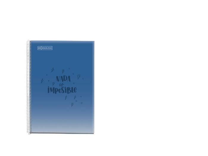 Cuaderno miquelrius escolar espiral p.p. Fº 80 hojas cuadrícula 4x4 messages