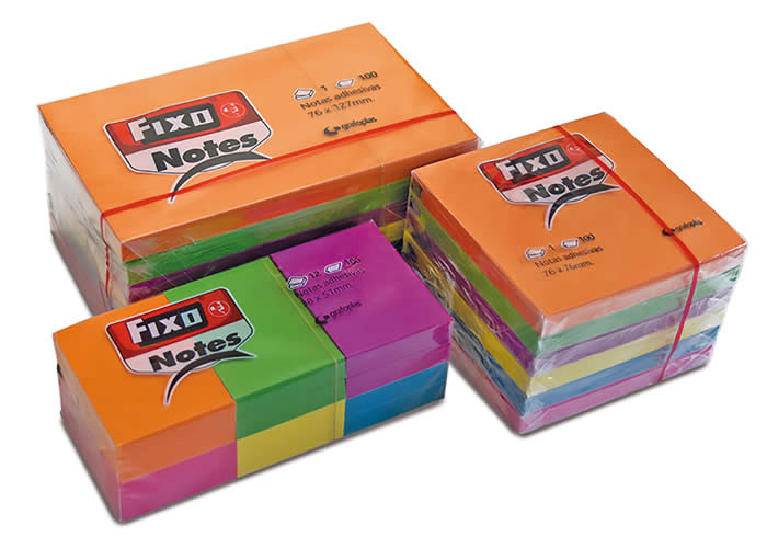 CUBO 400 NOTAS FIXO 51X51 MM. NEON (65005180)