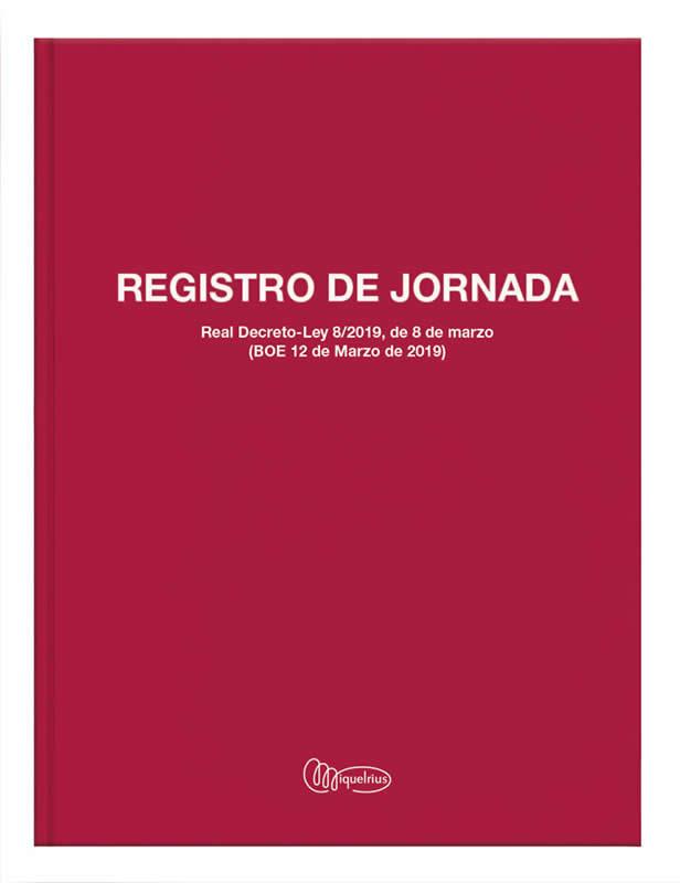 LIBRO MIQUELRIUS Fº 40 HOJAS REGISTRO HORARIO LABORAL (5090)