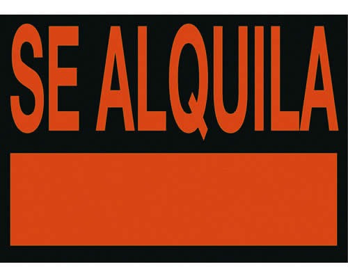 "Cartel ARCHIVO 2000 ""SE ALQUILA"" 23 x 50 cm (01C6163NE)"