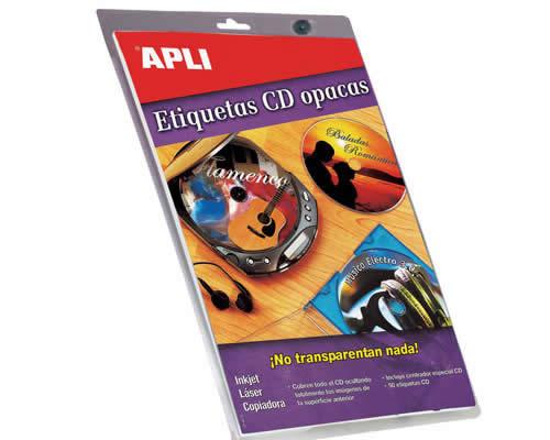 ETIQUETAS APLI MULTIMEDIA CD/DVD MEGA 117 DTRO. PERMANENTE OPACO (10601)
