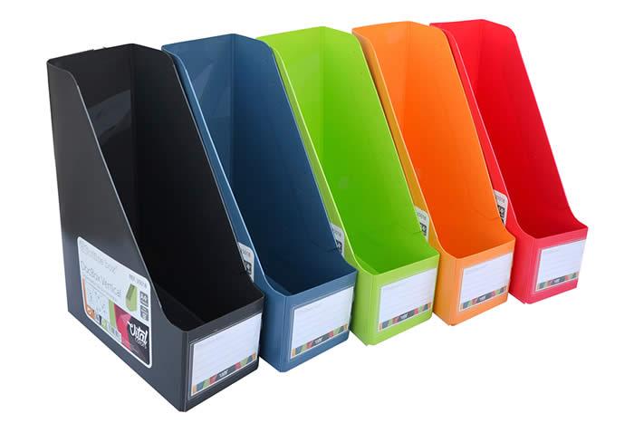 Organizador vertical OFFICE BOX Docbox vtal colors tamaño A4+ con tarjetero. Colores surtidos (35018)