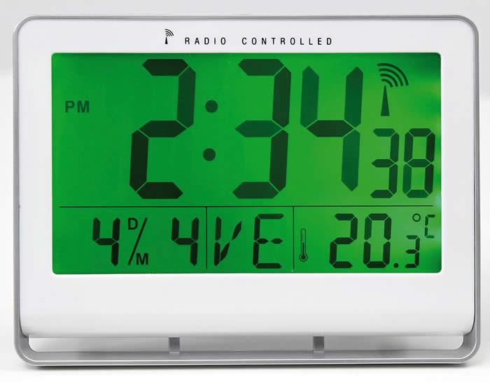 Reloj digital ALBA gris 30 x 200 x 150 mm (ALHORLCDNEO GS)