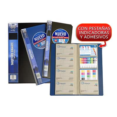 Tarjetero OFFICE BOX 230 X 280 mm. 608 tarjetas. Color negro (24668)