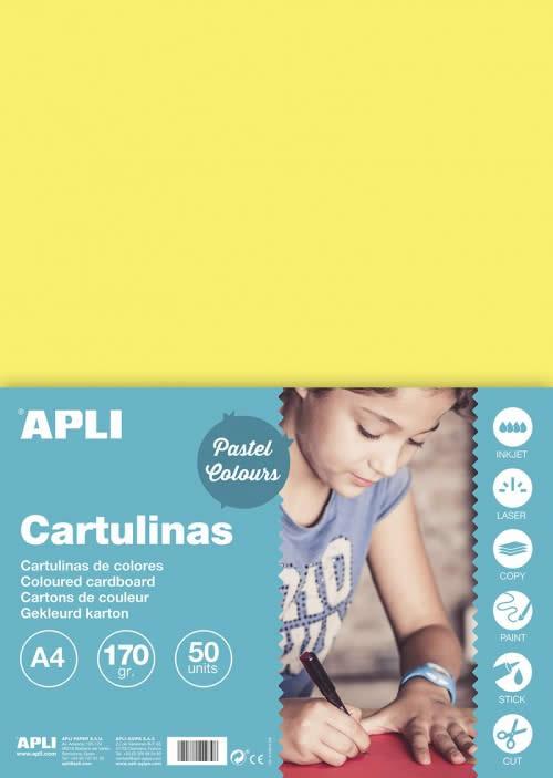 CARTULINA APLI 170 GRS. A4 50 HOJAS