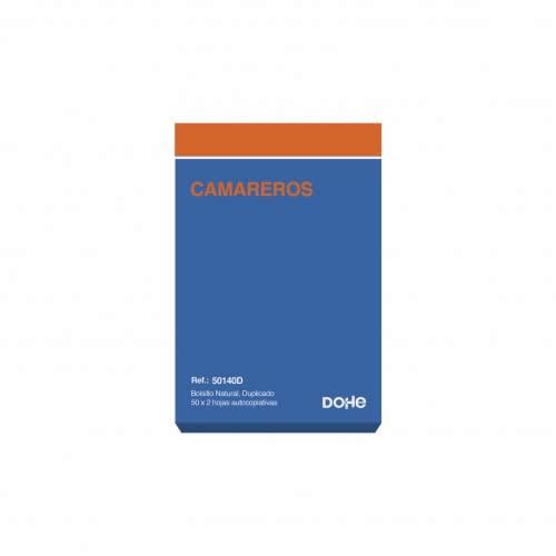 TALONARIO CAMARERO DOHE DUPLICADO 50 JUEGOS 8,5X13,5 CM. (50140D)