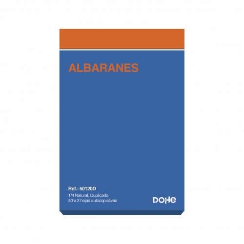 TALONARIO ALBARAN DUPLICADO DOHE 50 JUEGOS 14,4X21 CM. (50120D)