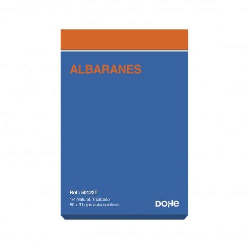 TALONARIO ALBARAN TRIPLICADO DOHE 50 JUEGOS 14,4X21 CM. (50122T)