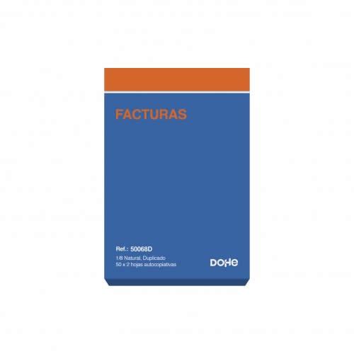 TALONARIO FACTURAS DUPLICADO DOHE 50 JUEGOS 10,5X15 CM. (50068D)