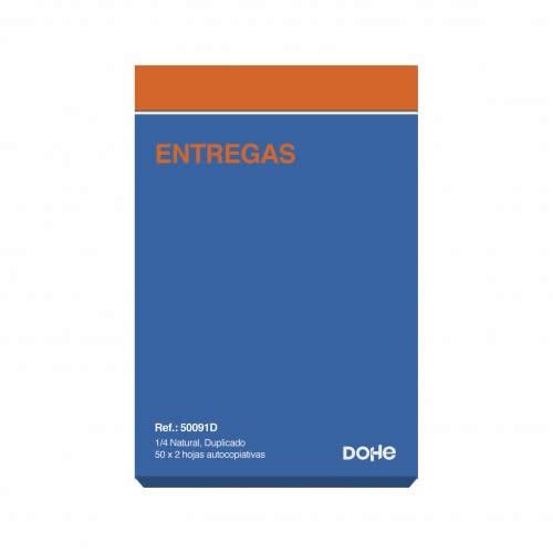 TALONARIO NOTAS DE ENTREGA DOHE DUPLICADO 50 JUEGOS 14,4X21 CM. (50091D)