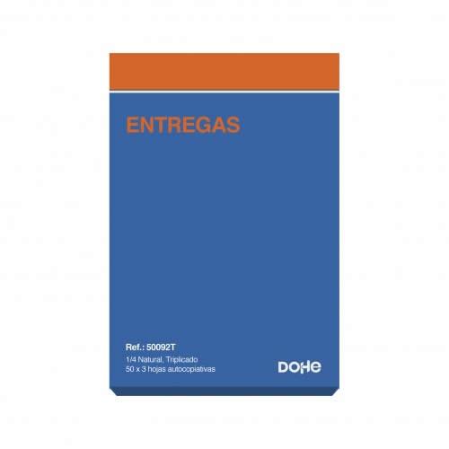 TALONARIO NOTAS DE ENTREGA DOHE TRIPLICADO 50 JUEGOS 14,4X21 CM. (50092T)