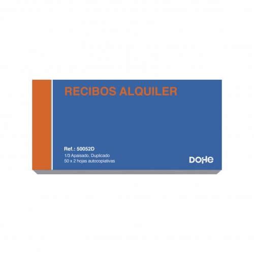 TALONARIO RECIBO ALQUILER DOHE DUPLICADO 50 JUEGOS 20,5X10,2 CM. (50052D)