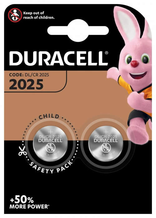 PILAS DURACELL BOTON BLISTER 2 UDS. CR2025 (990352)