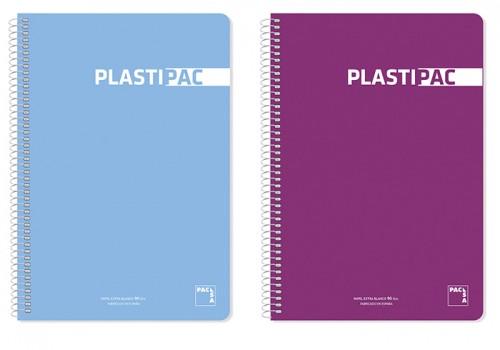 Cuaderno pacsa plastipac tapa p.p. Extra dura 4º 80 hojas 90 grs. Col. Surt. Cdla. (16409)