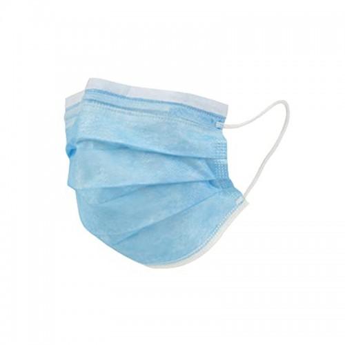 Mascarilla de adulto quirúrgica Azul tipo II. Paq. de 10 unidades