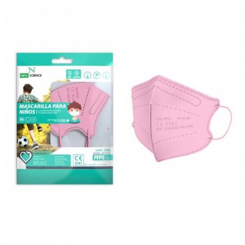 Mascarilla infantil FFP2 rosa